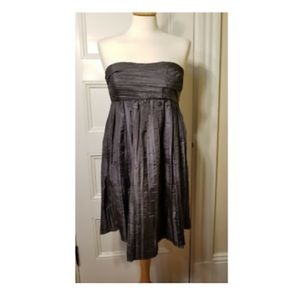 Calypso St. Barth Gray Silk Strapless Dress